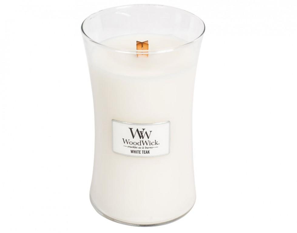 WW White teak Large Candle