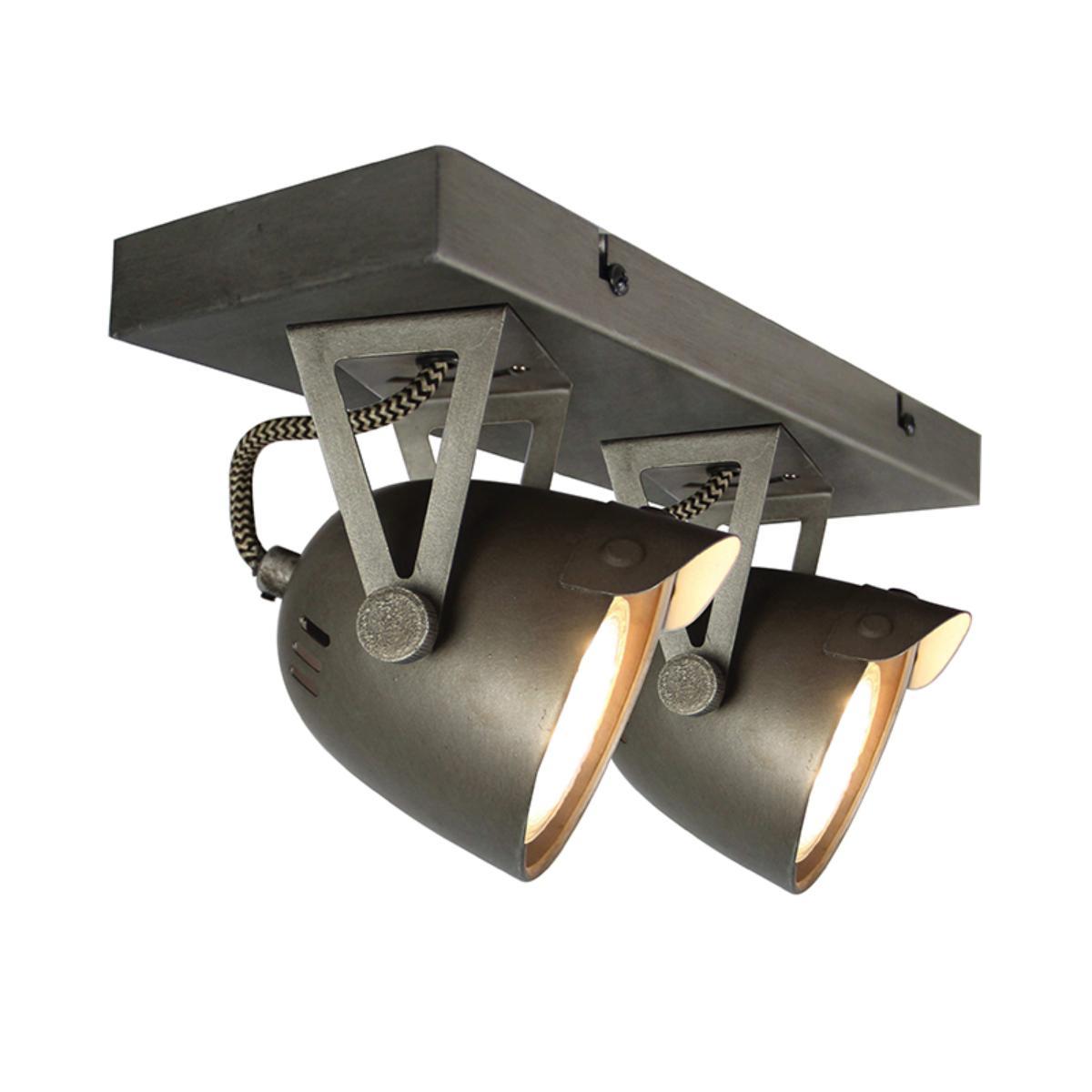 LABEL51 Spot Cap led - Grijs - Metaal - 2 Lichts
