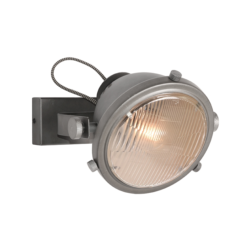 LABEL51 Wandlamp Tuk-Tuk - Grijs - Metaal