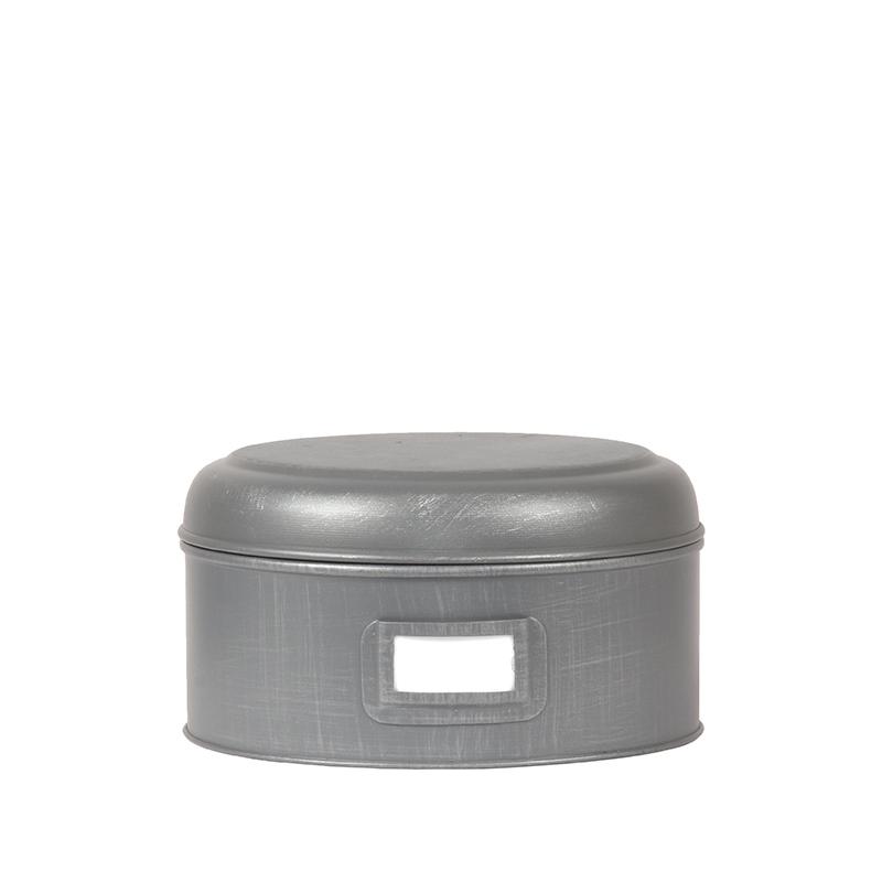 LABEL51 Opbergblik Opbergblik - Antiek grijs - Metaal - L - 22x22x12 cm