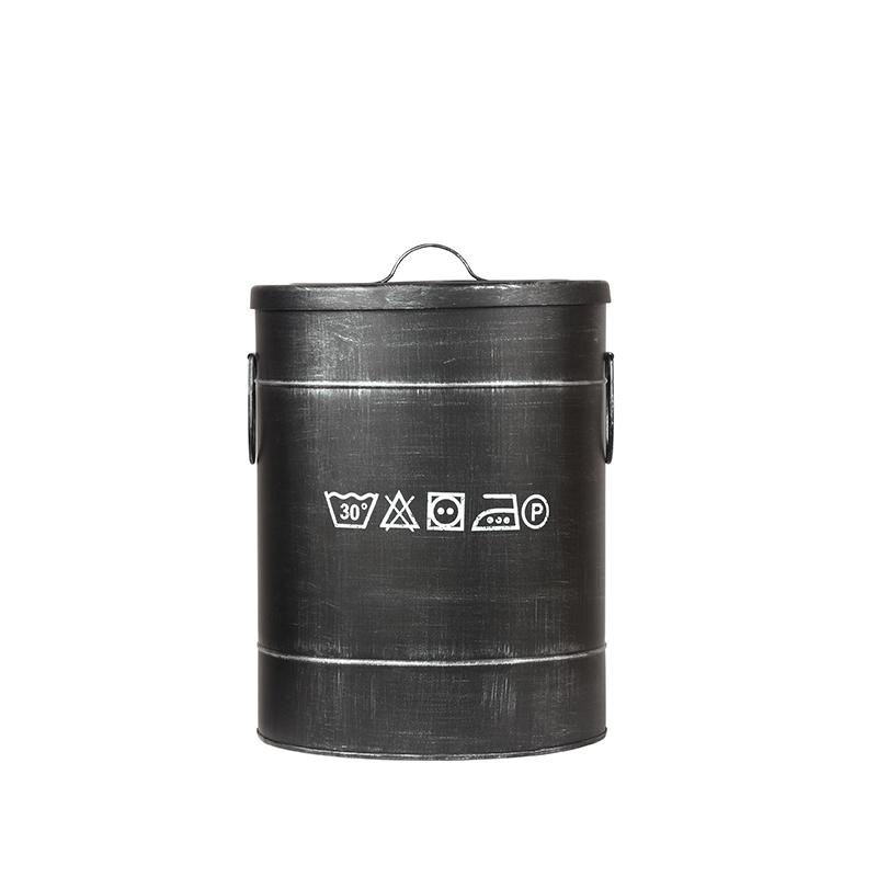 LABEL51 Opbergblik Wasmand - Zwart - Metaal - M