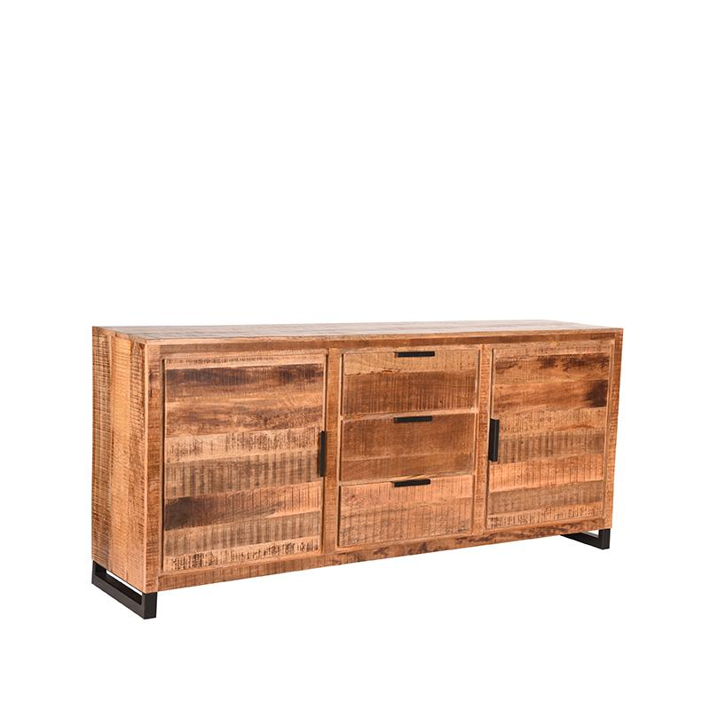 LABEL51 Dressoir Glasgow - Rough - Mangohout - 190 cm