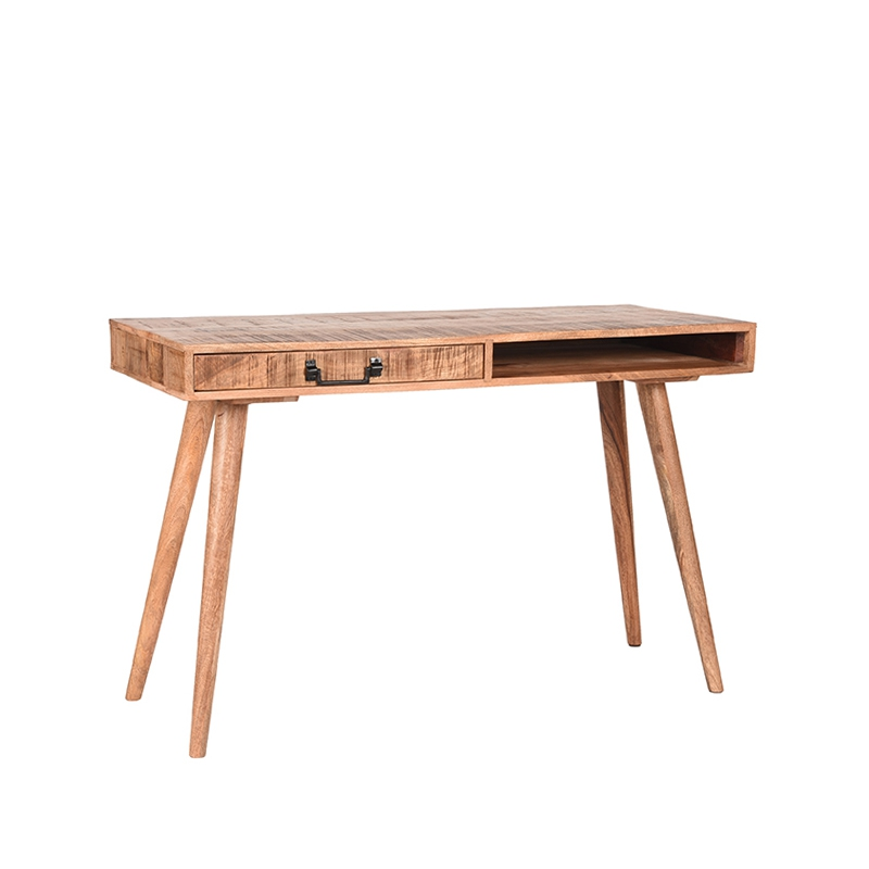 LABEL51 Bureau Steady - Rough - Mangohout - 118x50 cm