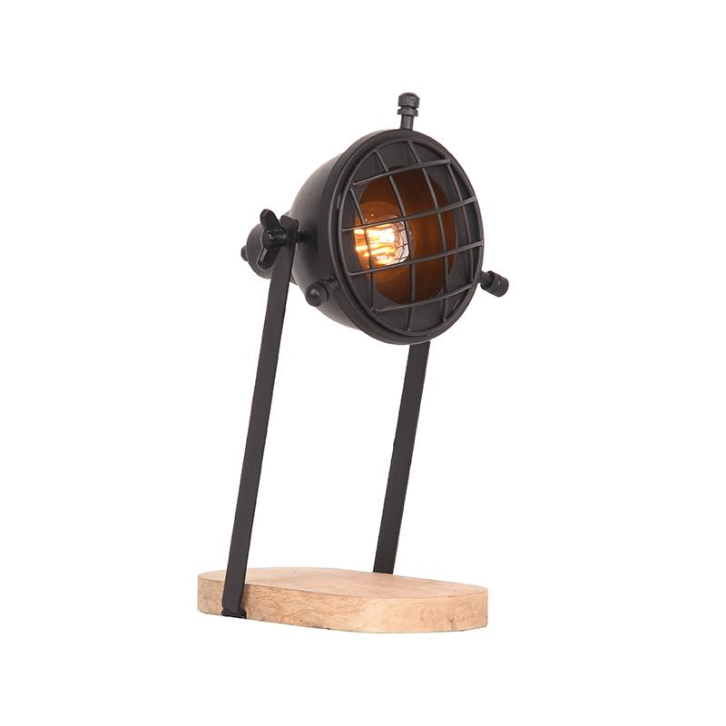 LABEL51 Tafellamp Grid - Zwart - Metaal