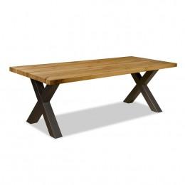 Mango tafel met X-poot Cambridge