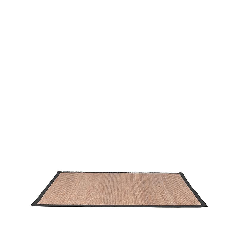 LABEL51 Vloerkleed Jute - Zwart - Jute - 160x230 Cm