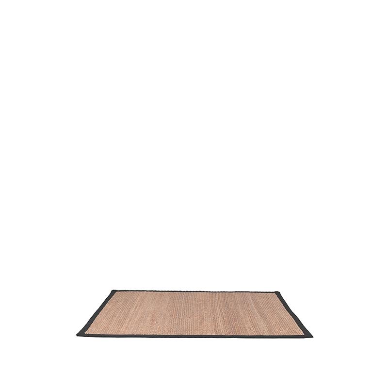 LABEL51 Vloerkleed Jute - Zwart - Jute - 140x160 Cm