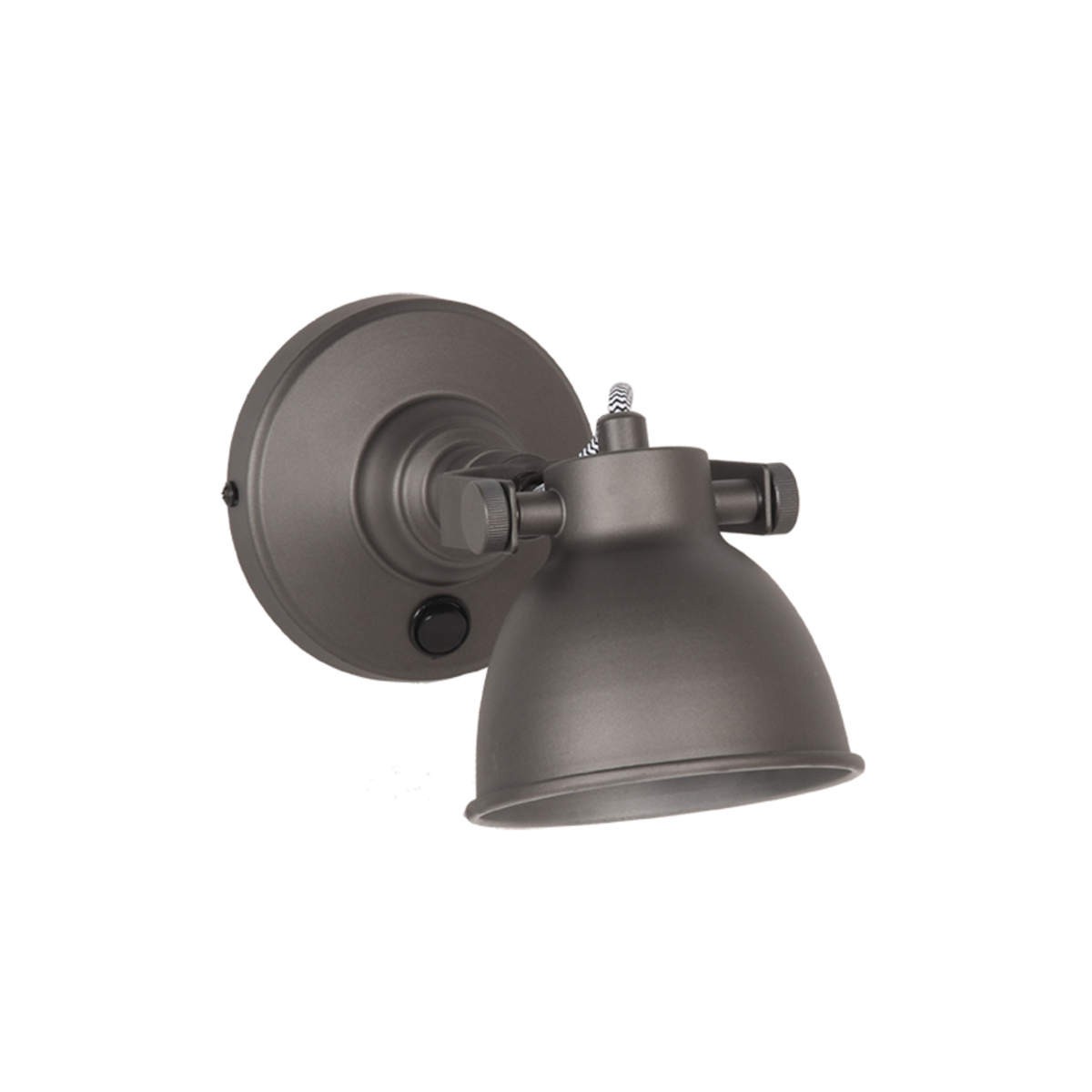 LABEL51 Wandlamp Bow - Grijs - Metaal - M