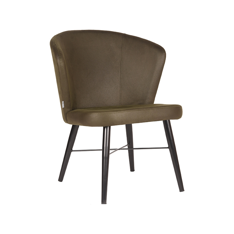 LABEL51 Fauteuil Wave - Army green - Microfiber