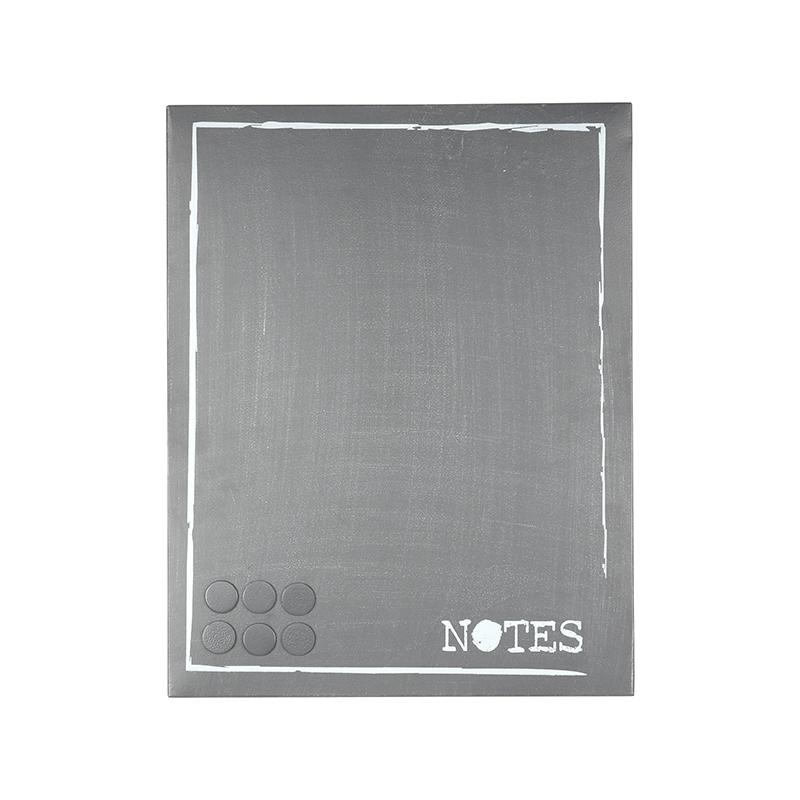LABEL51 Wanddecoratie Memobord - Antiek grijs - Metaal