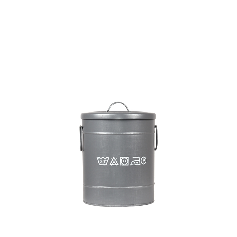 LABEL51 Opbergblik Wasmand - Grijs - Metaal - S