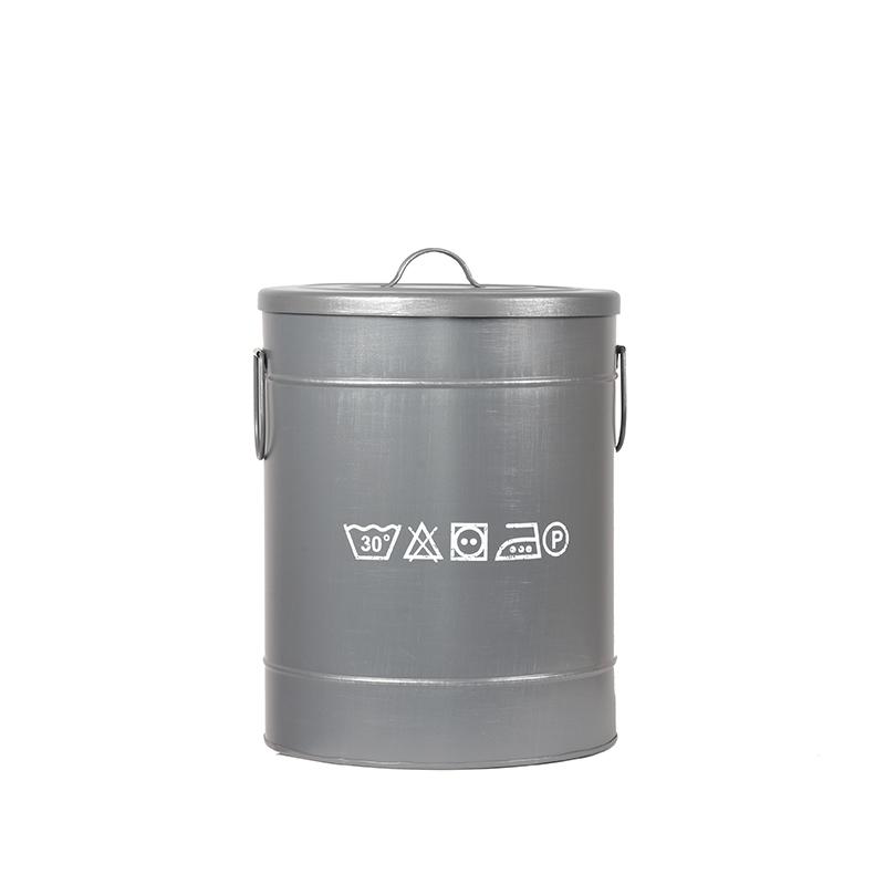 LABEL51 Opbergblik Wasmand - Grijs - Metaal - M