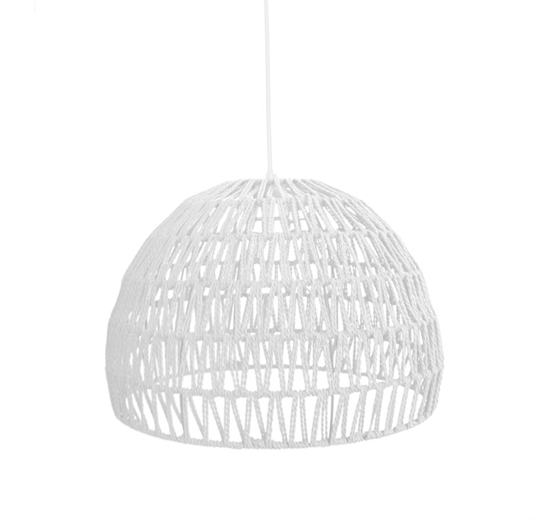 LABEL51 Hanglamp Rope - Wit - Stof - M