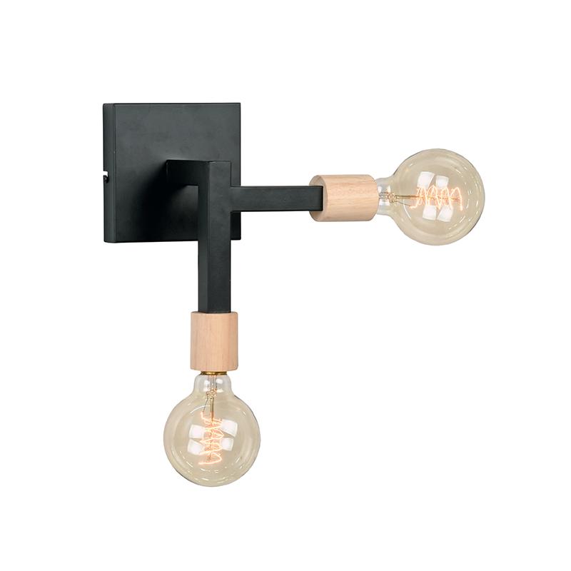 LABEL51 Wandlamp Loco - Zwart - Metaal