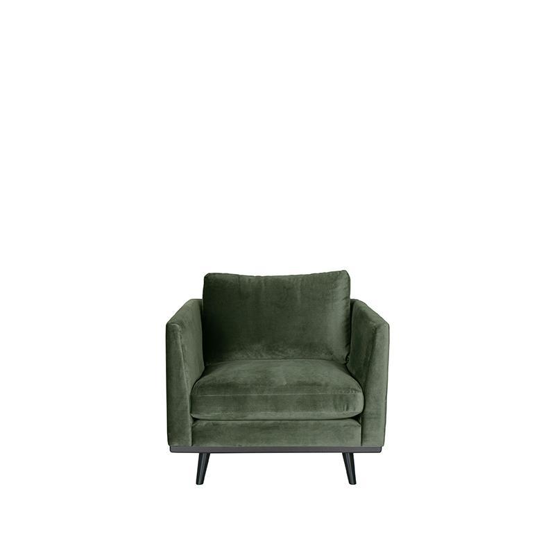 LABEL51 Bank Siena - Army green - Fluweel - 1-Zits