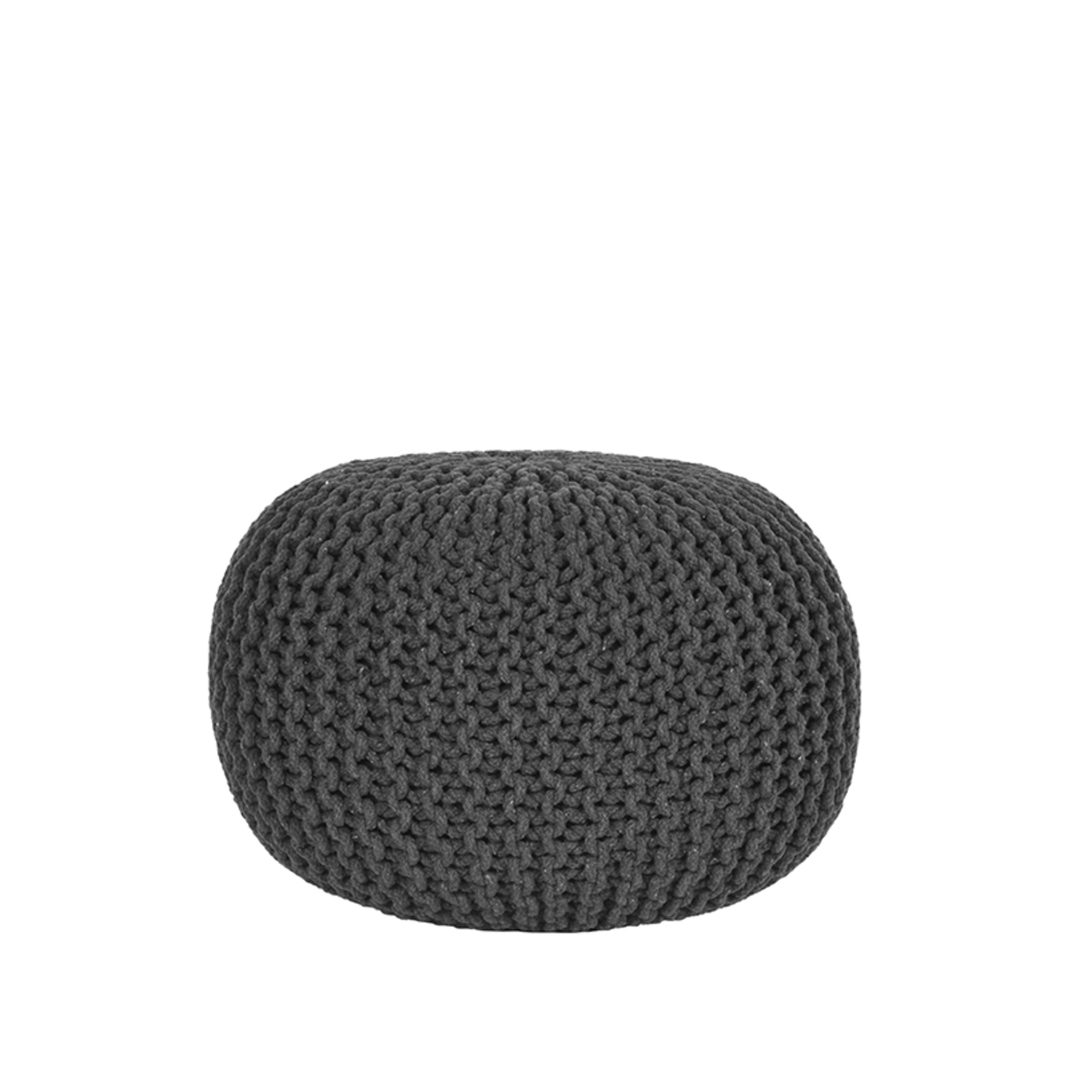 LABEL51 Poef Knitted - Antraciet - Katoen - M