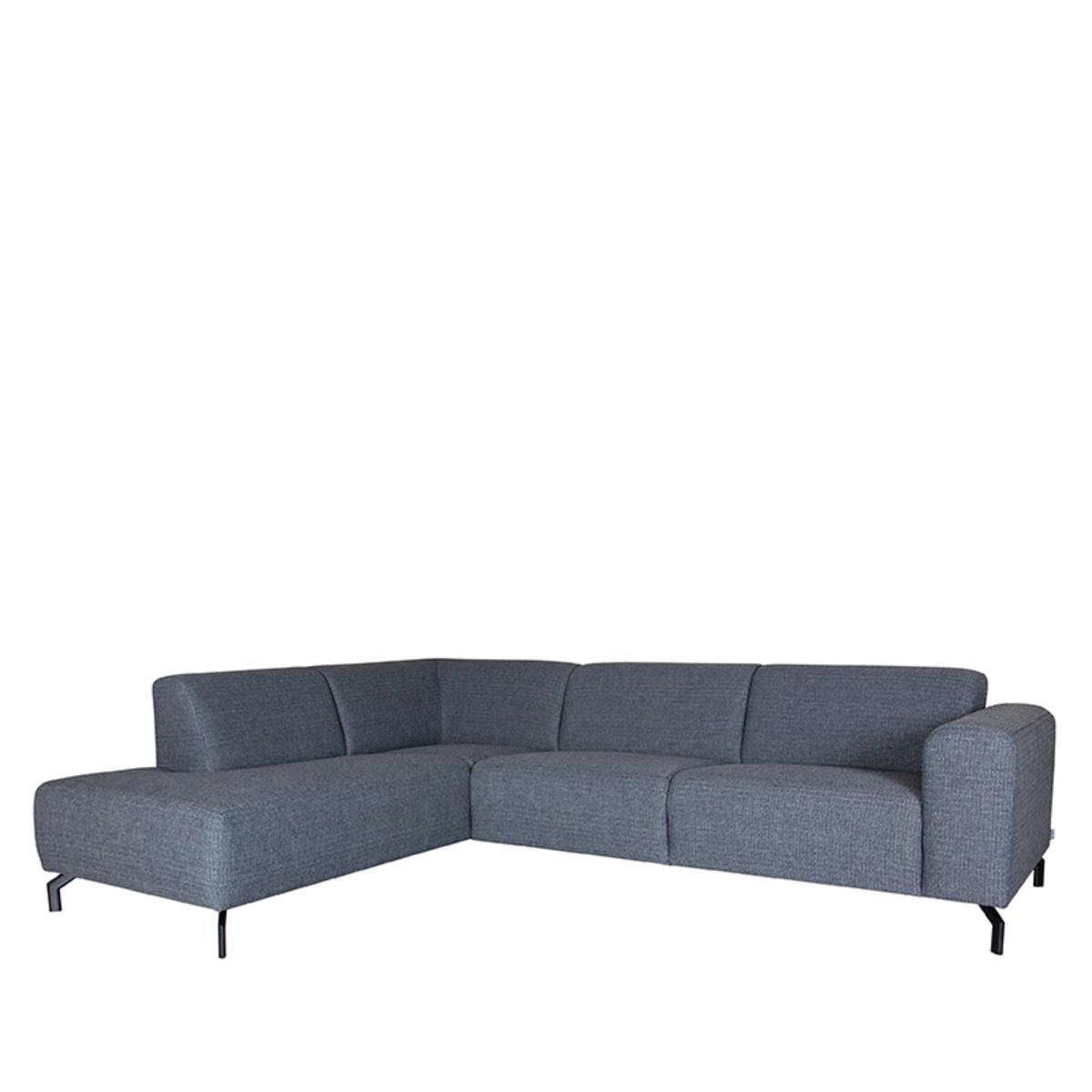 LABEL51 Bank Fano - Antraciet - Texture - Ottomane + 2,5-Zits