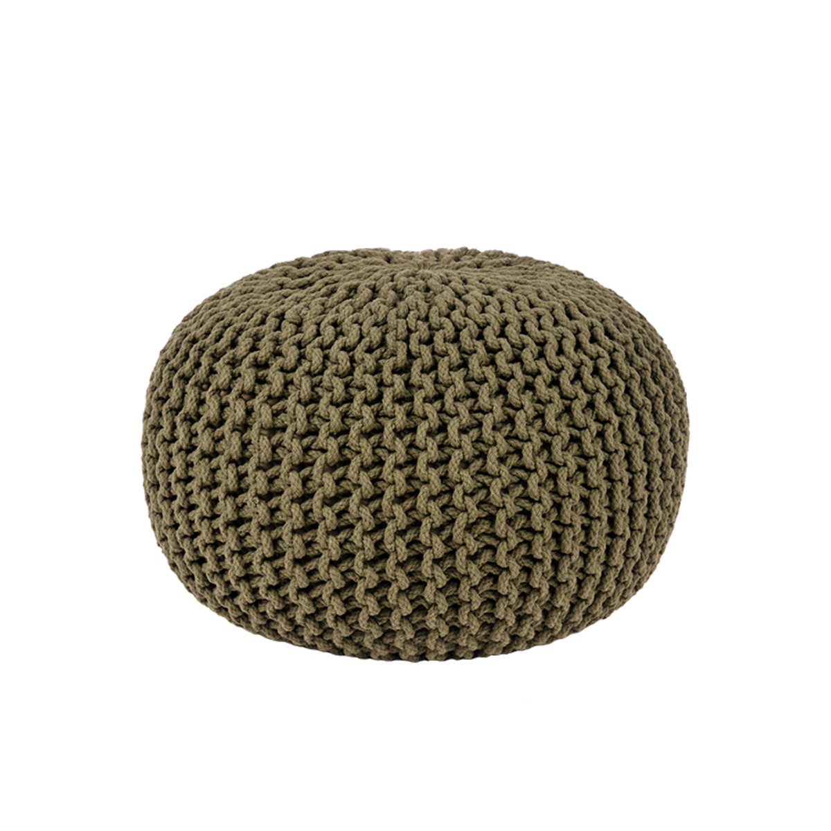 LABEL51 Poef Knitted - Army green - Katoen - M