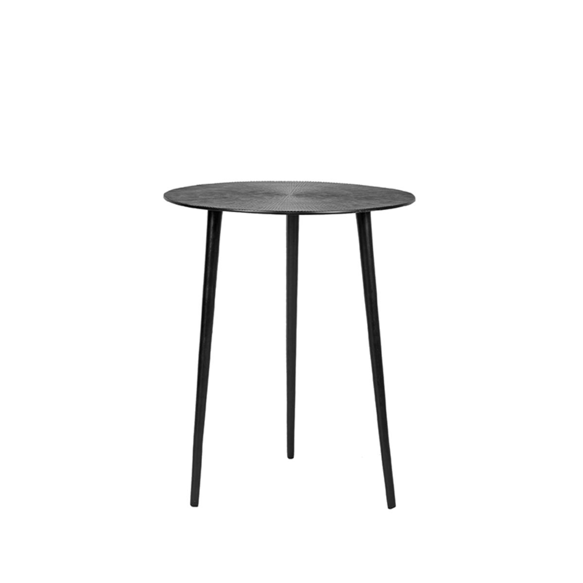 LABEL51 Bijzettafel Nobby - Zwart - Metaal - 40 cm