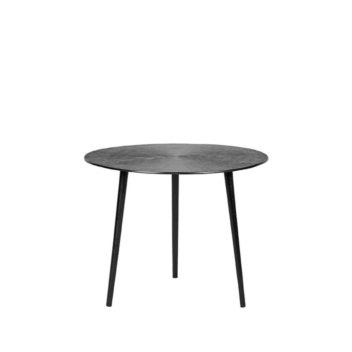 LABEL51 Salontafel Nobby - Zwart - Metaal - 50 cm