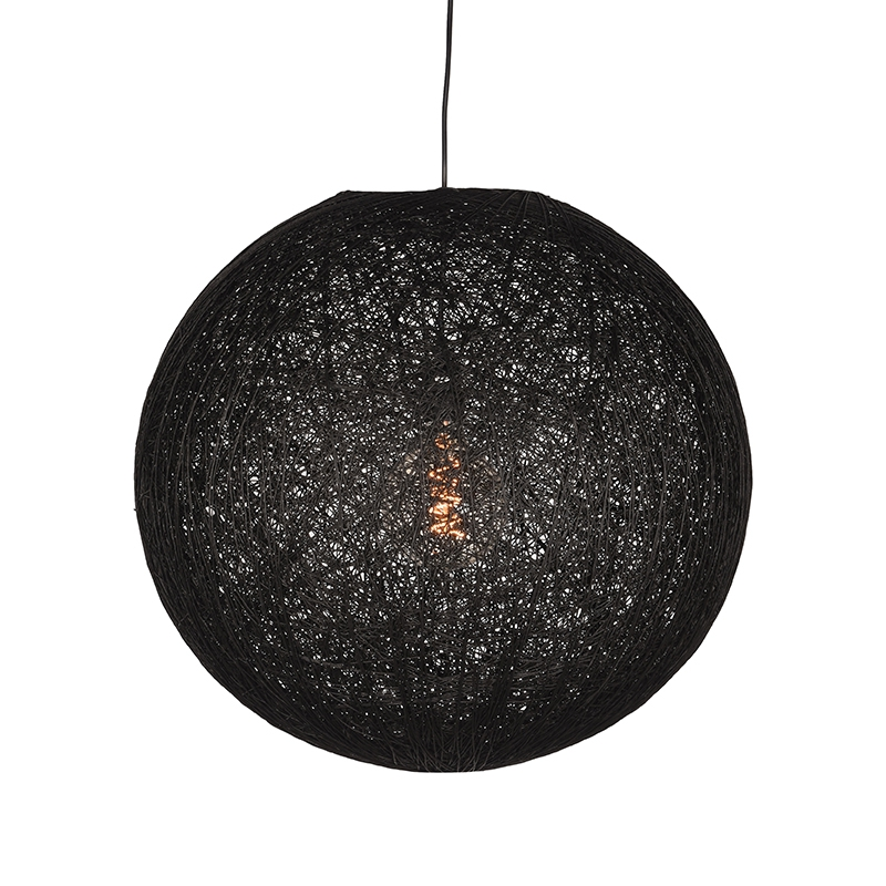 LABEL51 Hanglamp Twist - Zwart - Vlas - XL