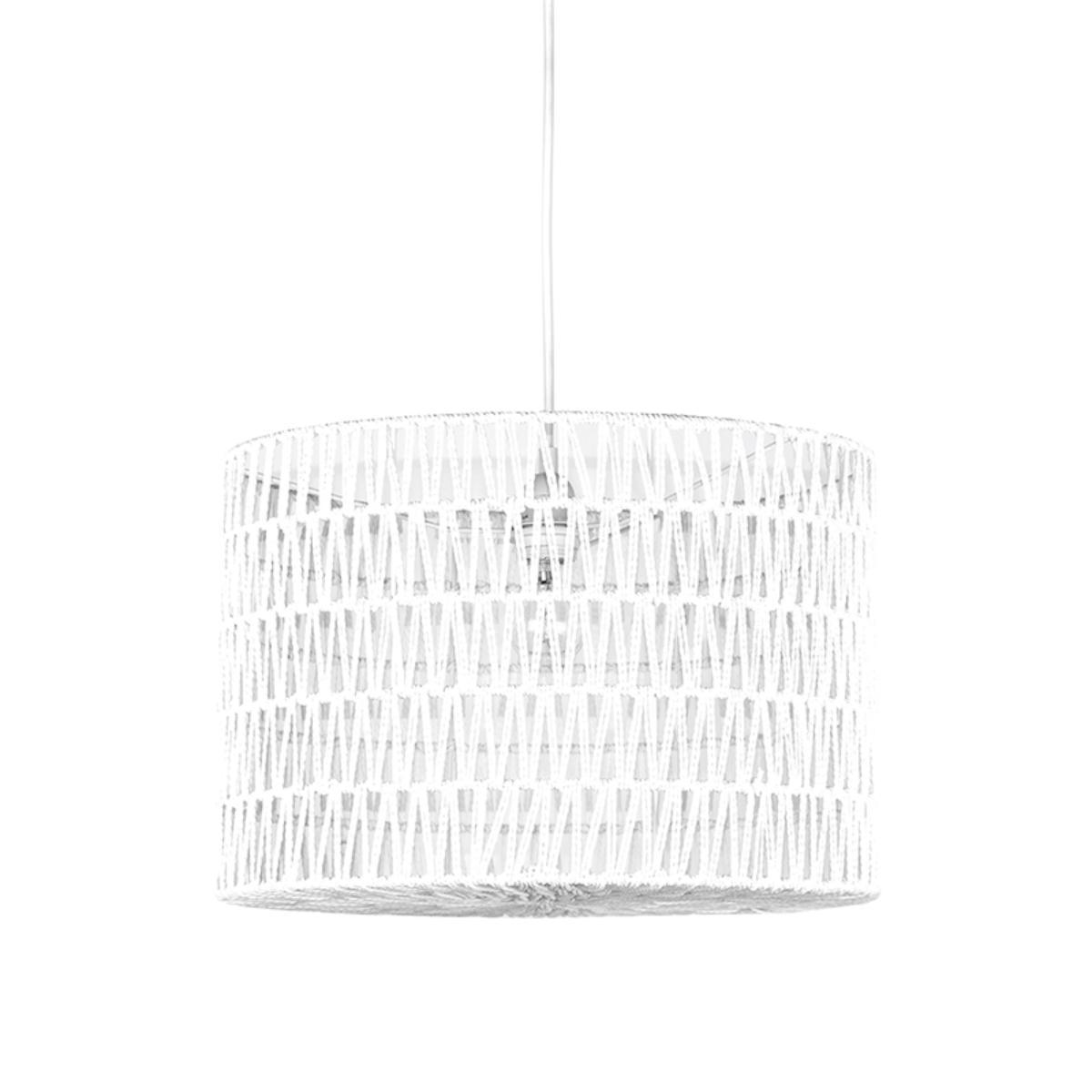 LABEL51 Hanglamp Stripe - Wit - Katoen