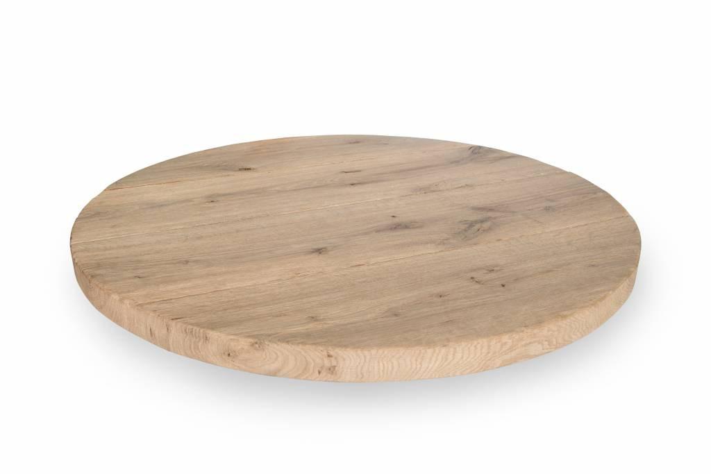 Eiken tafelblad rond