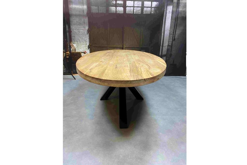 Live edge ronde tafel