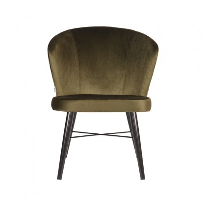LABEL51 Fauteuil Wave - Army green - Fluweel