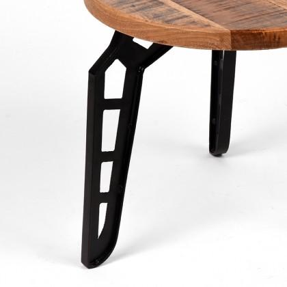 LABEL51 Salontafel Flintstone - Rough - Mangohout - Rond - 80 cm