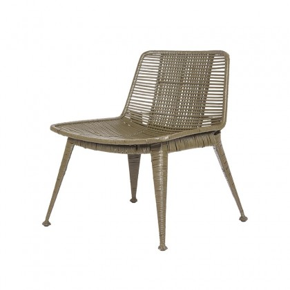 LABEL51 Fauteuil Rex - Army green - Rotan