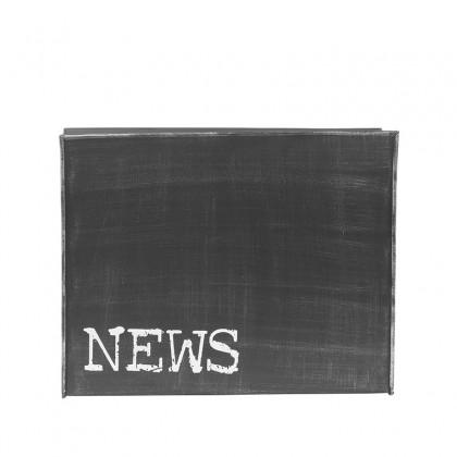 LABEL51 Wanddecoratie Magazinehouder - Zwart - Metaal