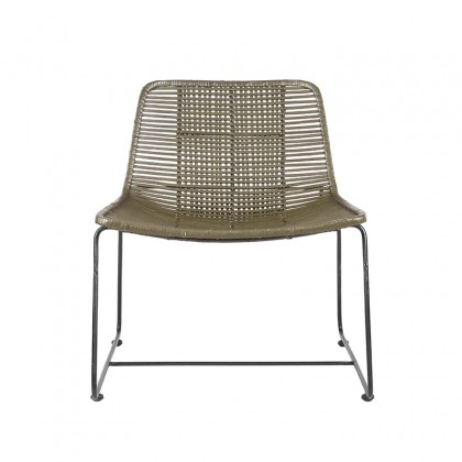 LABEL51 Fauteuil Jax - Army green - Rotan