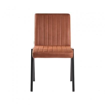 LABEL51 Eetkamerstoel Matz - Cognac - Microfiber