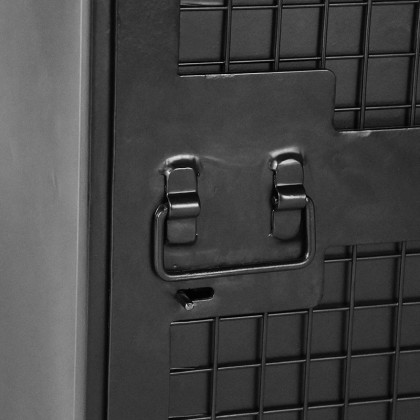 LABEL51 Bergkast Gate - Zwart - Metaal - 1 Deurs