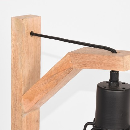 LABEL51 Tafellamp Drop - Zwart - Mangohout