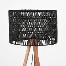 LABEL51 Vloerlamp Stripe - Zwart - Mangohout