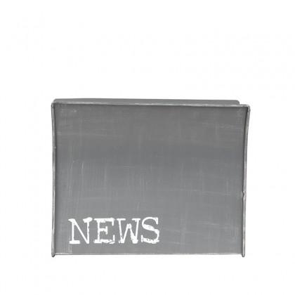LABEL51 Wanddecoratie Magazinehouder - Antiek grijs - Metaal