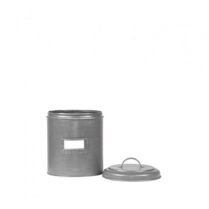 LABEL51 Opbergblik Opbergblik - Antiek grijs - Metaal - S - 10x10x15 cm