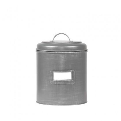 LABEL51 Opbergblik Opbergblik - Antiek grijs - Metaal - L - 18x18x24 cm