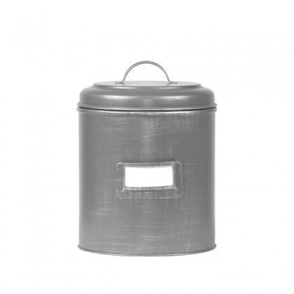 LABEL51 Opbergblik Opbergblik - Antiek grijs - Metaal - XL - 20x20x25 cm