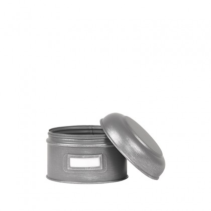 LABEL51 Opbergblik Opbergblik - Antiek grijs - Metaal - S - 13x13x10 cm