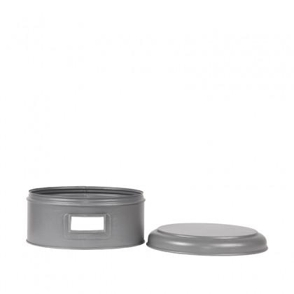 LABEL51 Opbergblik Opbergblik - Antiek grijs - Metaal - XL - 25x25x13 cm