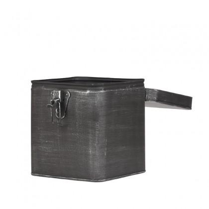 LABEL51 Opbergblik Opbergkist - Antiek grijs - Metaal - XL