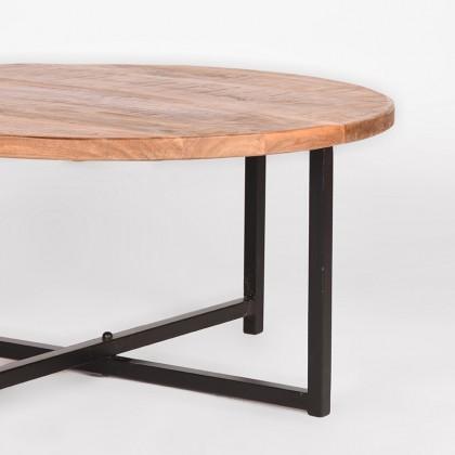 LABEL51 Salontafel Dex - Rough - Mangohout - Rond - 80 cm