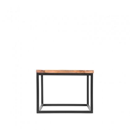 LABEL51 Bijzettafel Box - Rough - Mangohout - 60x60 cm