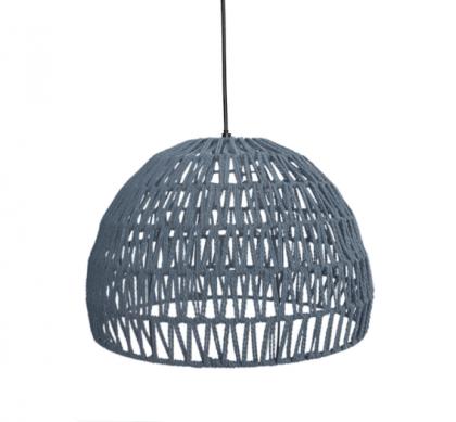 LABEL51 Hanglamp Rope - Lichtgrijs - Stof - M
