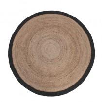 LABEL51 Vloerkleed Jute - Zwart - Jute - 180x180 cm