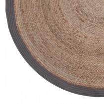 LABEL51 Vloerkleed Jute - Grijs - Jute - 180x180 cm