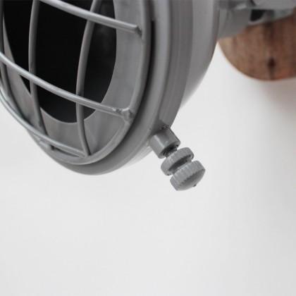 LABEL51 Wandlamp Grid - Grijs - Metaal
